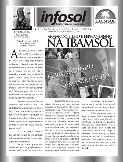 Primeira página da edição 04 de 20 de abril.