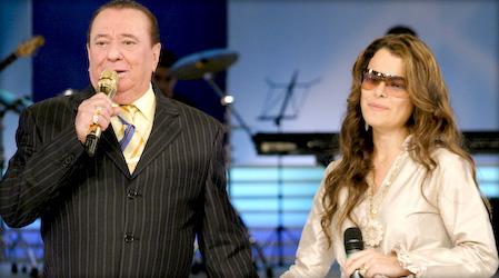 Ana Paula com Raul Gil.