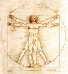 Homem Vitruviano, desenho de Leonardo da Vinci.