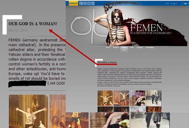 Imagem Site Oficial Femen