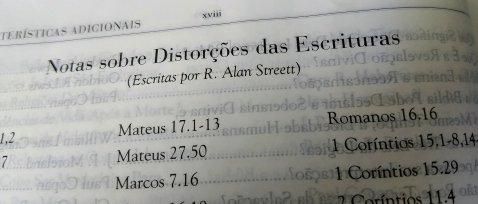 Índice geral das Notas sobre Distorções da Bíblia. Um dos recursos mais interessantes desta bíblia de estudo.