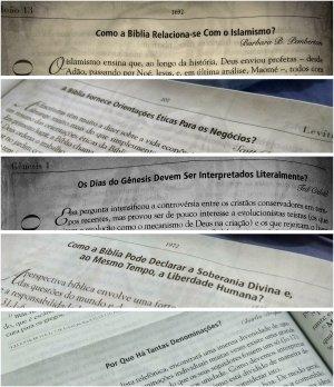 Alguns títulos de artigos espalhados por toda a bíblia.