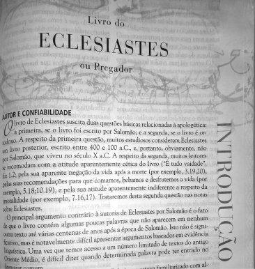 Introdução do Livro de Eclesiastes.