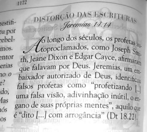 Nota sobre distorção das escrituras no Livro de Jeremias.